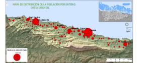 Distribución población entidades singulares oriente