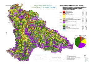 Montaña central usos del suelo SIOSE